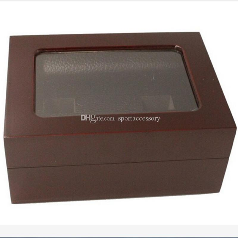 Factory price high quality two slots wooden display ring box 16*12*7cm drop shipping