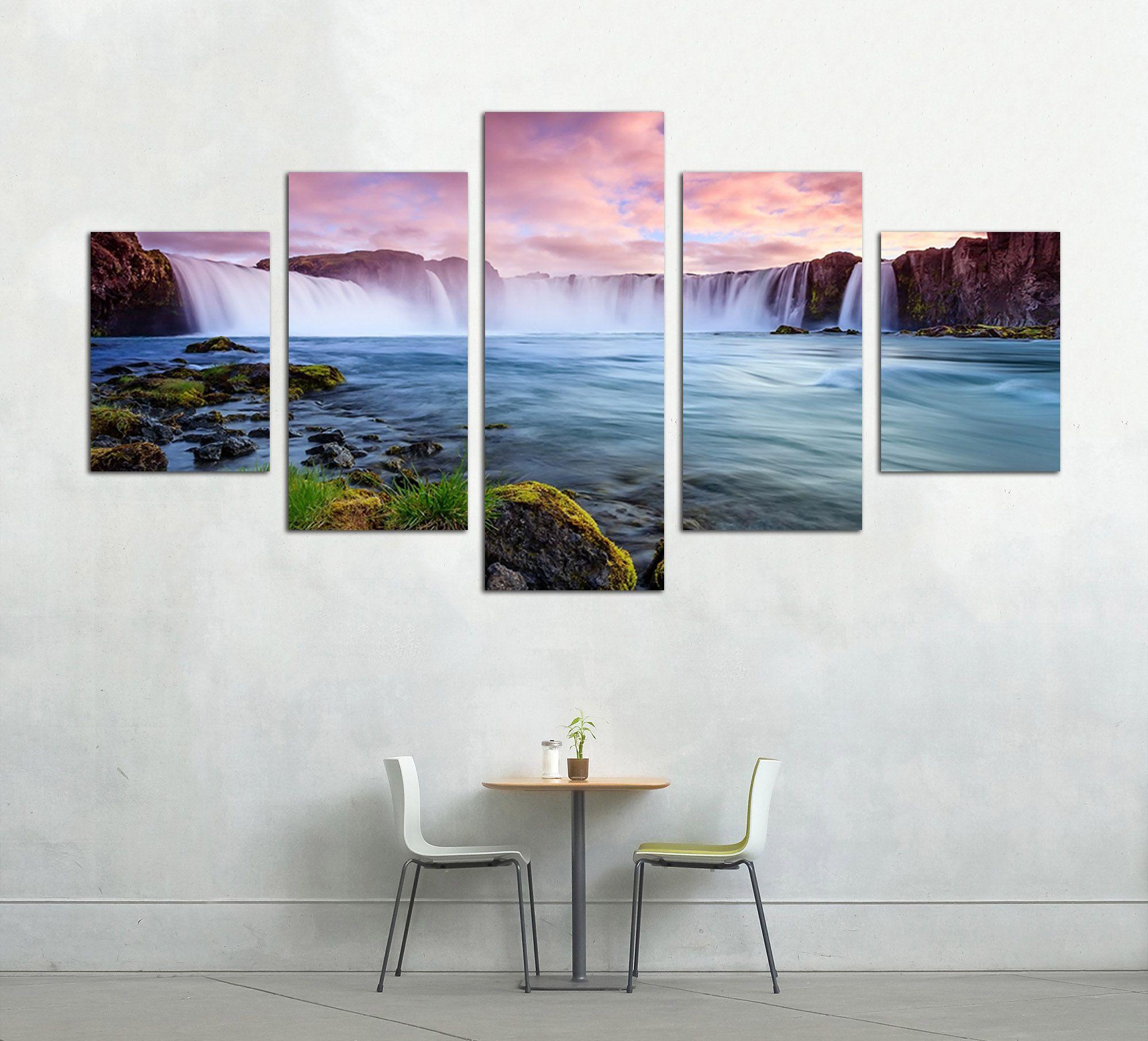 Modern Home Decoration Living Room Wall Art Canvas Art Mountain ...