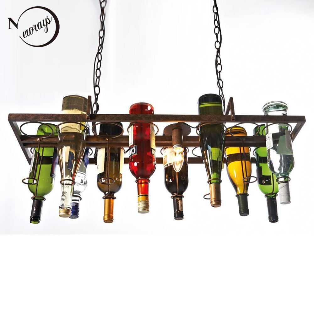 Recycled retro hanging wine bottle led ceiling pendant lamps e14 recycled retro hanging wine bottle led ceiling pendant lamps e14 light for dining roombarrestaurant kitchen lighting fixture online with 27279piece on aloadofball Gallery