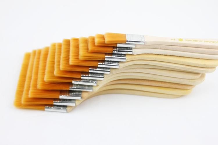 12p جيم / مجموعة ذات جودة عالية من النايلون ماو Banshua وحة زيتية فرشاة، فرشاة BBQ لفن الرسم سهلة لتنظيف فرش تنظيف الخشب