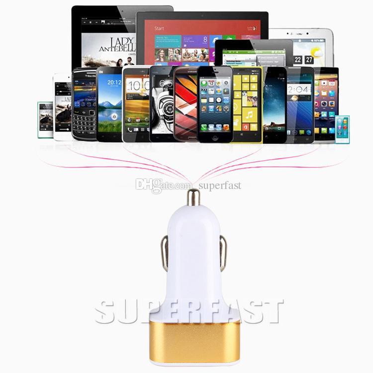 3 Häfen USB-Auto-Ladegerät für iPhone X 8 7 Spielraum-Adapter-Auto-Stecker Dreifaches Auto-USB-Ladegerät für iPad Tablette ohne Paket