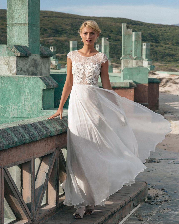 Discount Vintage Nude Look Soft Sheath Wedding Dress 2016 Guipure ...