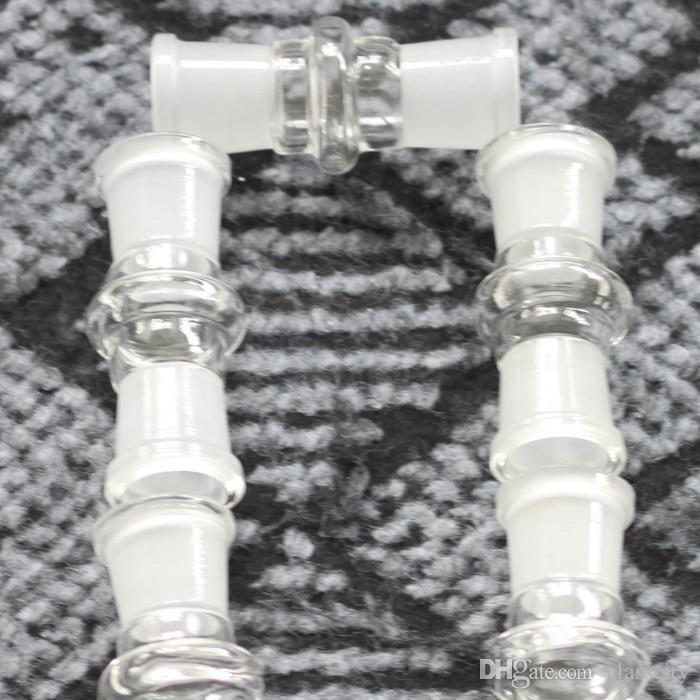 Adaptador de bong al por mayor de cristal 18 hembra a 18 hembra 18.8mm junta de 18.8mm para bong de cristal envío gratis