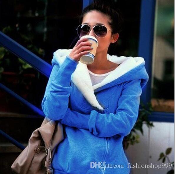 Koreanische Dame Hooded Jacket Coat Coat Kapuze Hatlock Grau Schwarz Fashion Special Stoff Large Size Sweater