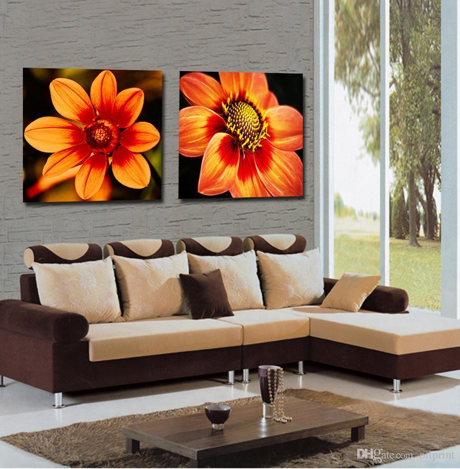 Großhandel Frameless Leinwanddruck Blume Dandelion. Sonnenblume ...