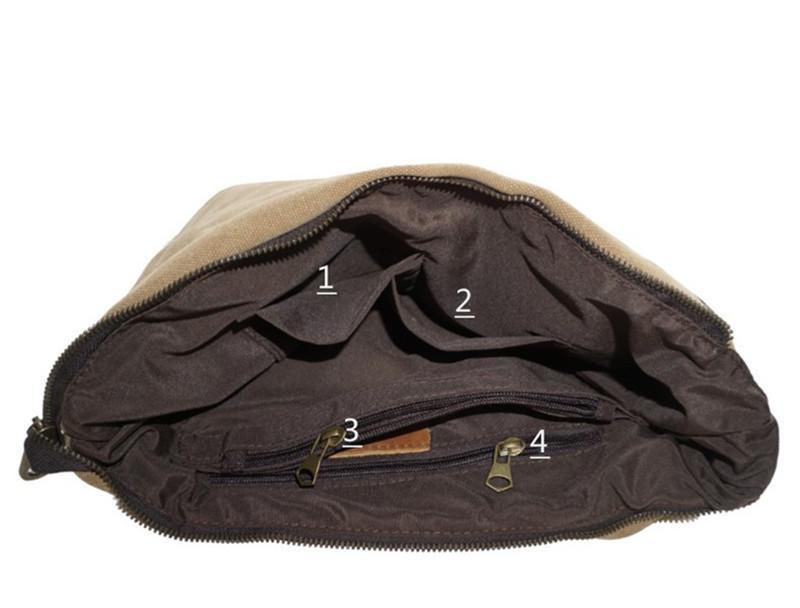 Retro Men 's Canvas Cloth Shoulder Messenger Bag Wrong Marble Men' s Handicraft Women 's Backpack