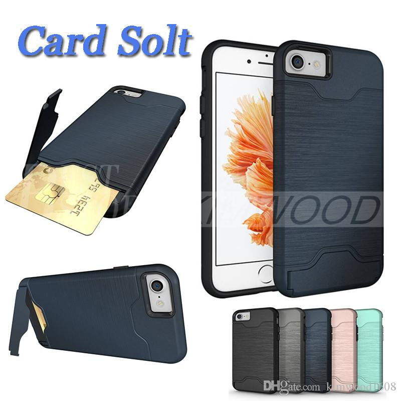 for iphone 6 6s 7 8 x plus brush case fashion back cover card slotfor iphone 6 6s 7 8 x plus brush case fashion back cover card slot with holder kickstand cases samsung s8 s9 iphone 7 case iphone holder online with