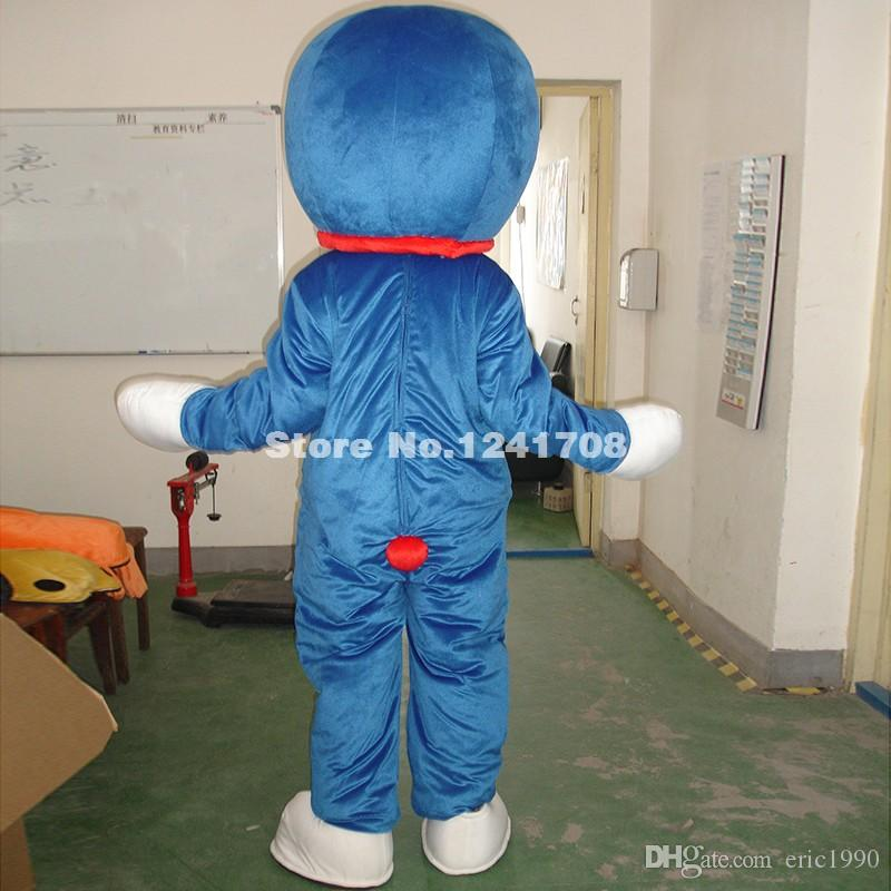 High Quality Adult Size Doraemon Cat Mascot Cartoon Character Costume For Christmas