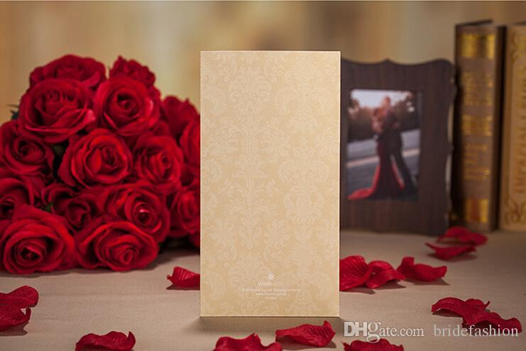 골드 보라색 빨간색 레이저 컷 결혼식 초대장 카드 hollow 개인화 무료 인쇄 봉투와 약혼 초대 카드