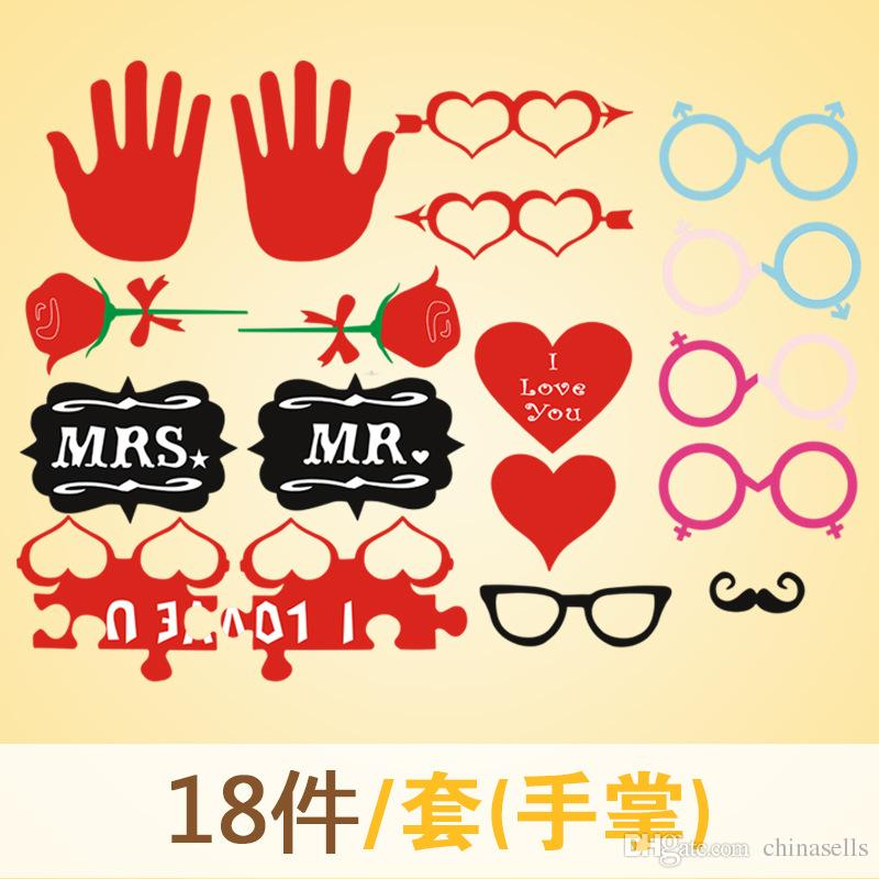 Valentine's Day party Photo Props Moustache Hat Small Eyes Paper Beard Wedding Party Supplies Bachelorette Party Photo Booth new
