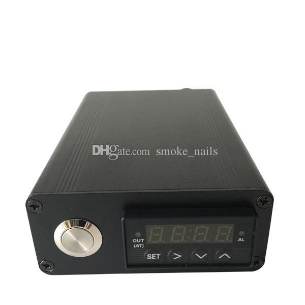 DHL free Factory price E Digital Nail Kit with flat 10mm /16mm /20mm heater coil PID Temperature Control Box Digital Essential Oil Vaporizer