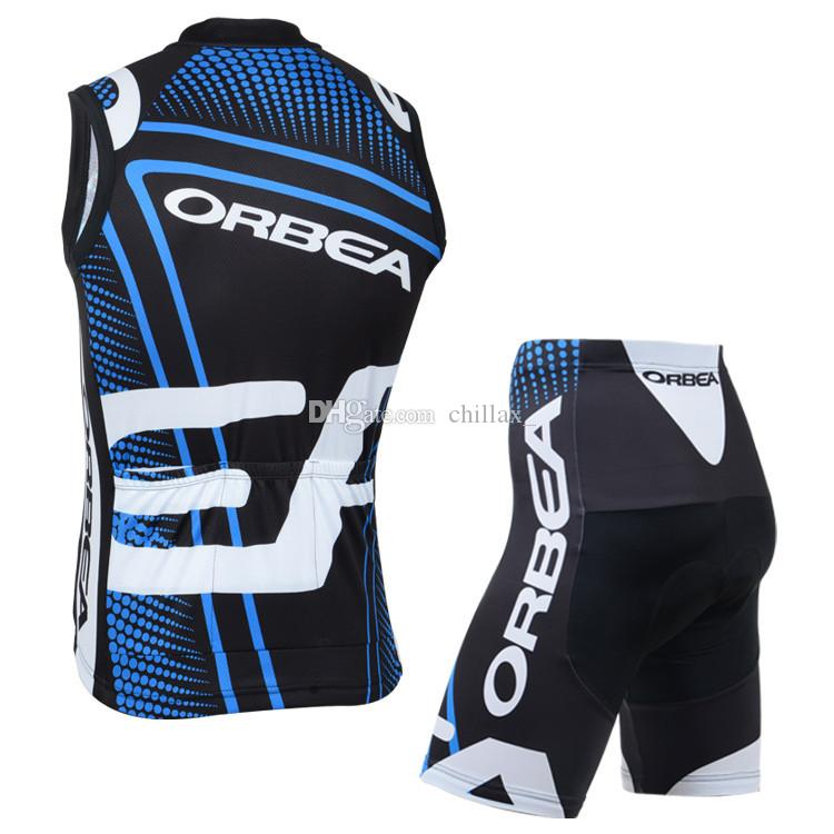 Breathable Sommer Fahrrad Racing Kleidung Orbea Sleeveless Radsportanzug Team Radfahren Jersey Sets Ropa Ciclismo High Grade Gepolsterte Hosen
