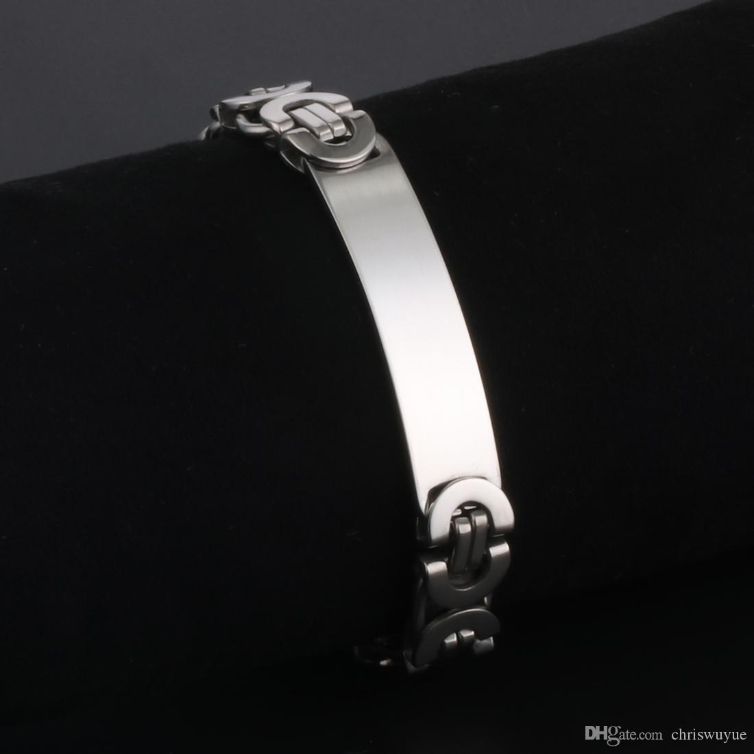 High Quality Mens Hiphop Bracelet Stainless Steel Flat Byzantine Chain Bracelets Rock Jewelry for Punk Boys Wholesale 220mm 8.7inch