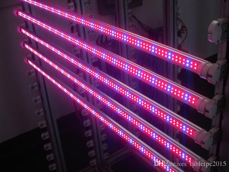 T8 튜브 주도 라이트 블루 컬러 18w 1200mm 1 무료 배송 LED 형광등 램프 85-265V