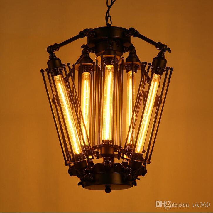 New American Retro Luzes Pingente Lâmpada Industrial Loft Restaurante Bar Do Vintage Ilha Alcatraz Edison Lampe Pendurado iluminação