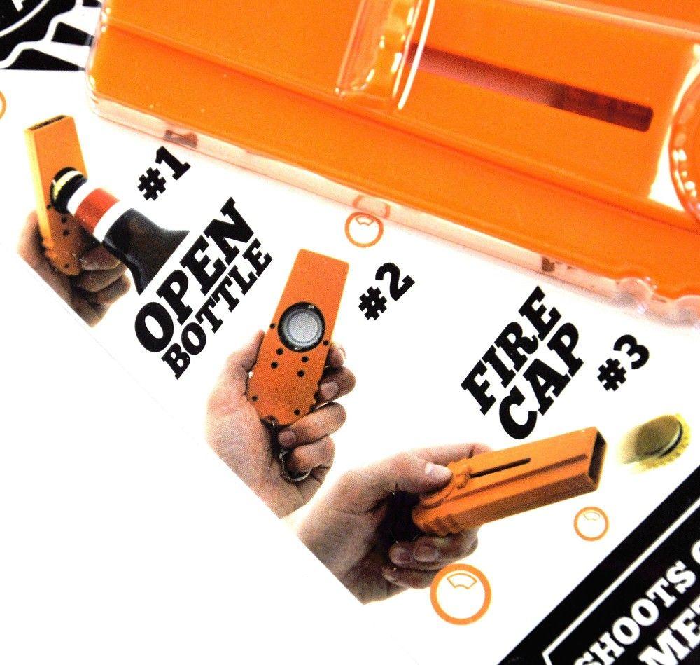 New Cap Zappa Shooter Flaschenöffner mit Kühlschrank Magnet Kappe Launcher Aufkleber Cap Schießen Bar Küche Bier Flaschenöffner Kühlschrank Aufkleber