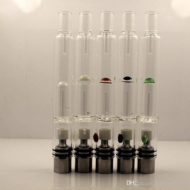 Pyrex Glass Hookah atomizer tanks Vaporizer Dry Herb Wax pen water filter pipe ecig e cig cigarette bongs