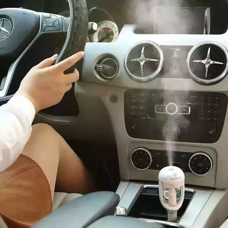 Nanum Car Plug Air Humidifier Purifier,Vehicular essential oil ultrasonic humidifier Aroma mist car fragrance Diffuser DHL