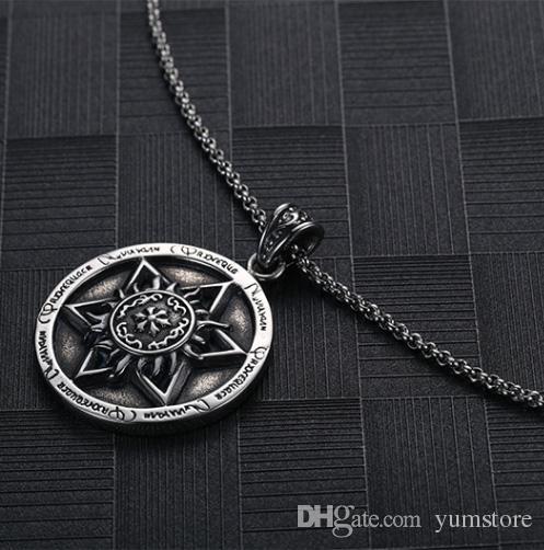 Collana a pendenti in acciaio inossidabile con pendenti a forma di pendenti in acciaio inossidabile gli uomini