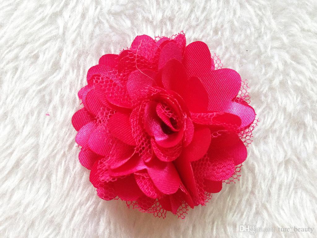 15% de desconto! Bebê Meninas Cetim Tule Malha Flores para a Cabeça acessórios para o cabelo roupas sapatos e chapéus acessórios broches acessórios /