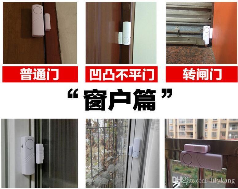 Especial Sem Fio Da Janela Da Porta Sensor Interruptor Magnético Home Security Alarm Bell Assaltante Aviso Sistema de Segurança Inteligente alarme anti-roubo
