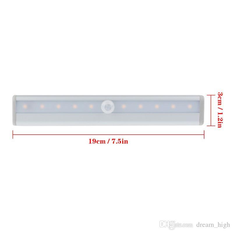 Bewegungsmelder leuchtet LED IR Infrarot Bewegungsmelder Sensor Closet Cabinet Light Lampe Wireless Mit AAA-Batterie leuchtet