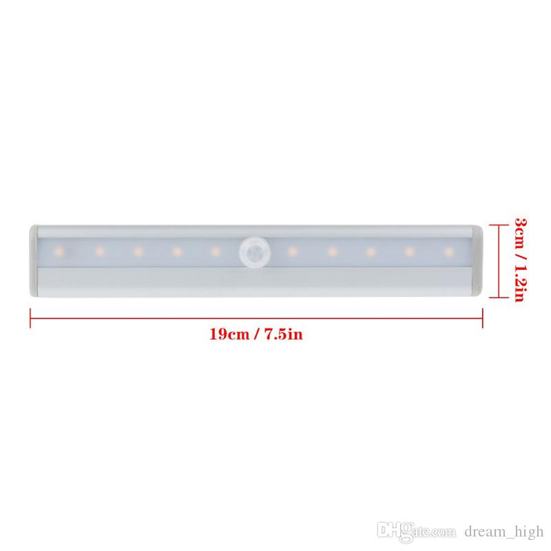 Motion sensor lights LED IR Infrared Motion Detector Sensor Closet Cabinet Light Lamp Wireless Using AAA battery lights