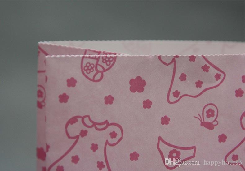 9 design Bowknot, Fiore, Sacchetto di carta regalo di Natale 50 pezzi Sacchetti regalo cibo caramelle Decorazione di nozze Bomboniere Bomboniere