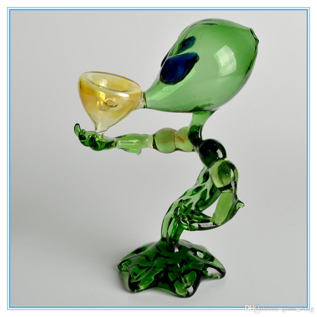 New Arrival high Quality Alien Glass Smoking Pipe Alien Glass For Smoking Fancy Style glass water pipes