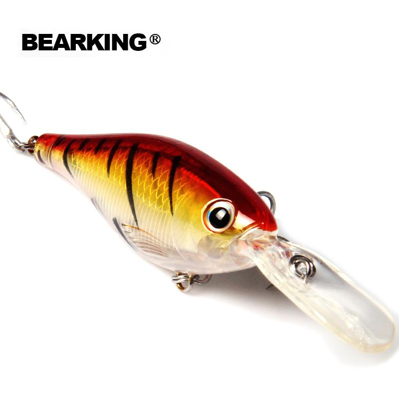 Bearking 5Pcs/Lot Hot Good Fishing Lures Minnow Quality Professional Shad 8Cm 14G Depth 2-4M Crankbait Popper Shad Fish Bait