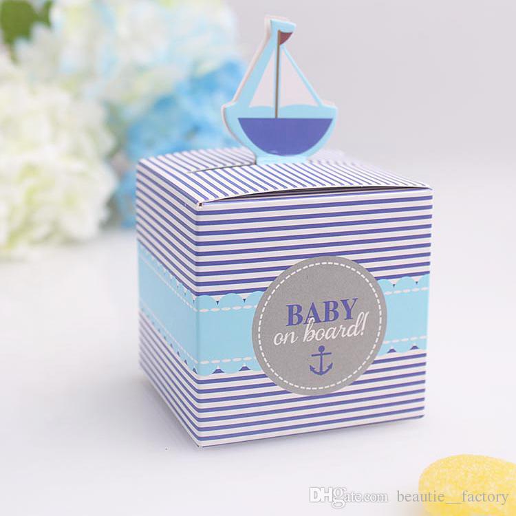 50 stücke BABY an Bord Pralinenschachtel Baby Shower Boy Geburtstagsfeier Pralinenschachtel Einzigartiges und schönes Design