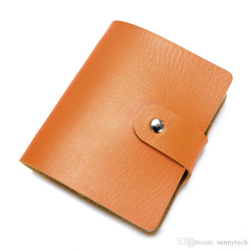 60 Bit Slot di grande capacità Nuovi biglietti da visita Borse Donna Uomo Anti-Magnetici Confezioni Porta carte d'identità Porta-carte Set LZ0538