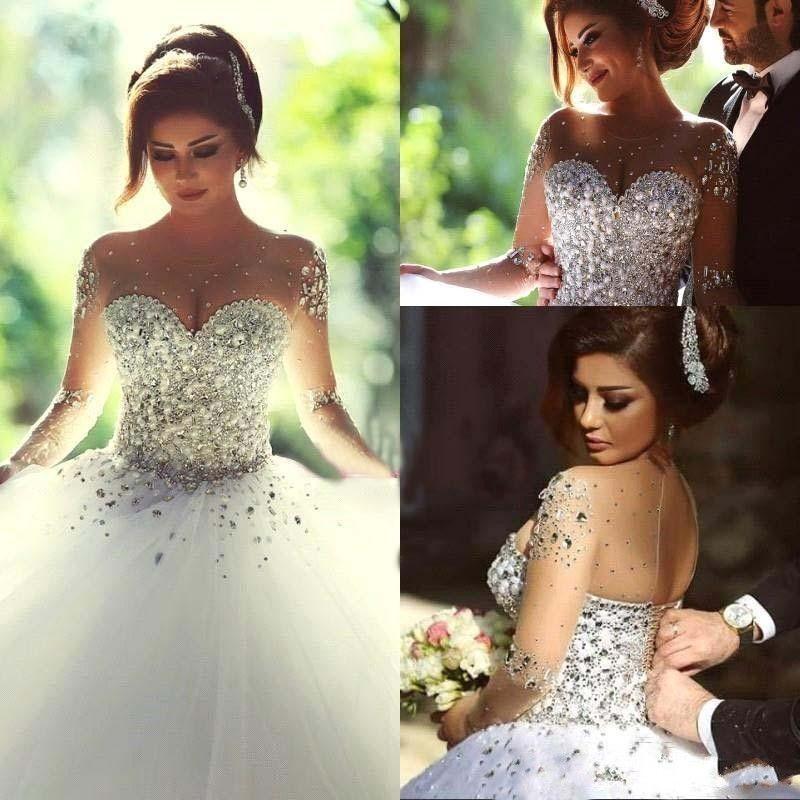 Rhinestones On Wedding Dresses – Dresses for Woman