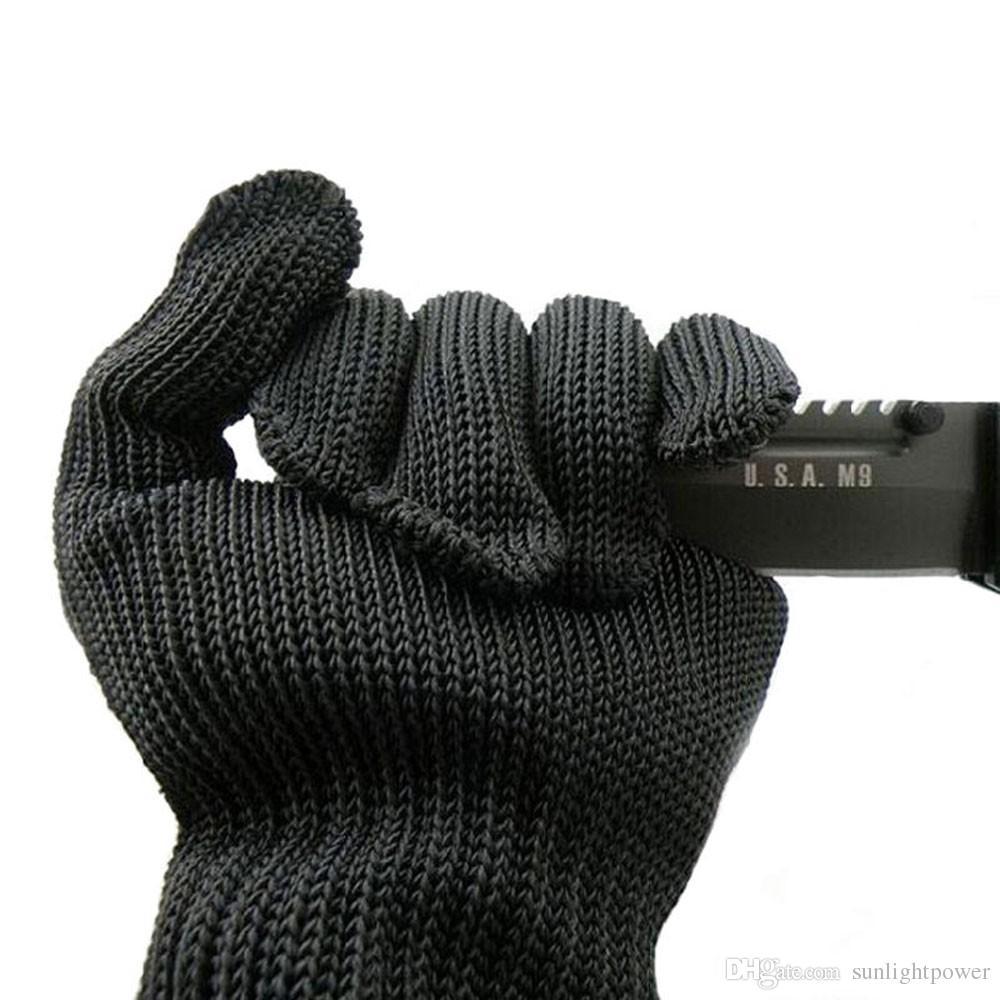 e de gants de protection contre les gants de sécurité en fil d'acier inoxydable taillé maille métallique de boucher anti-coupe respirant gants de travail