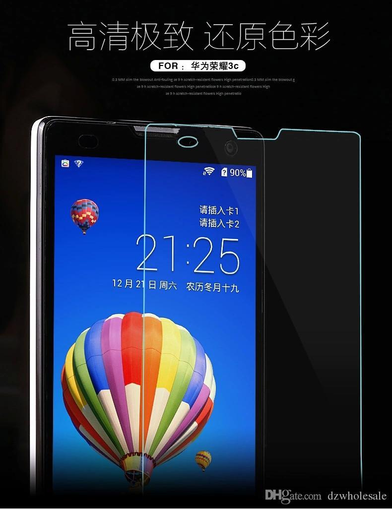 Высокое качество 9 H премиум закаленное стекло для Huawei Honor Y5C/Y625/Y635/5XY560/G8/5C / 8 защитная пленка 500 шт. / лот бесплатная доставка