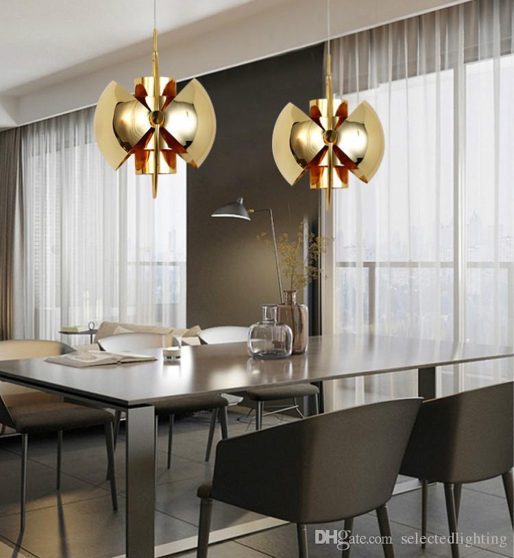 Post Modern Multi Pendelleuchte 180 Grad Drehen Shade Halb Designer Pendelleuchte Esszimmer Beleuchtung Wohnkultur 5 Farboptionen