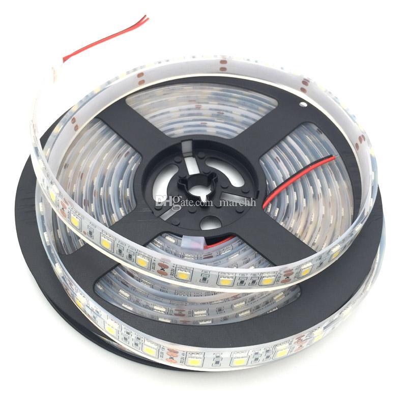 50 m impermeabile IP68 SMD5050 LED Light Strip DC 12V + femmina DC connettore + 12V 5A adattatore di alimentazione Spedizione gratuita DHL
