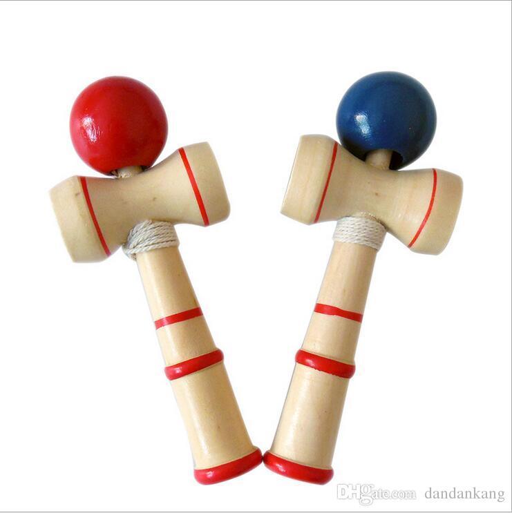 Kid Забавный Kendama Умение Болл Японский традиционный меч Бал Wood Игра Шарики Обучающие игрушки Подарки оптового