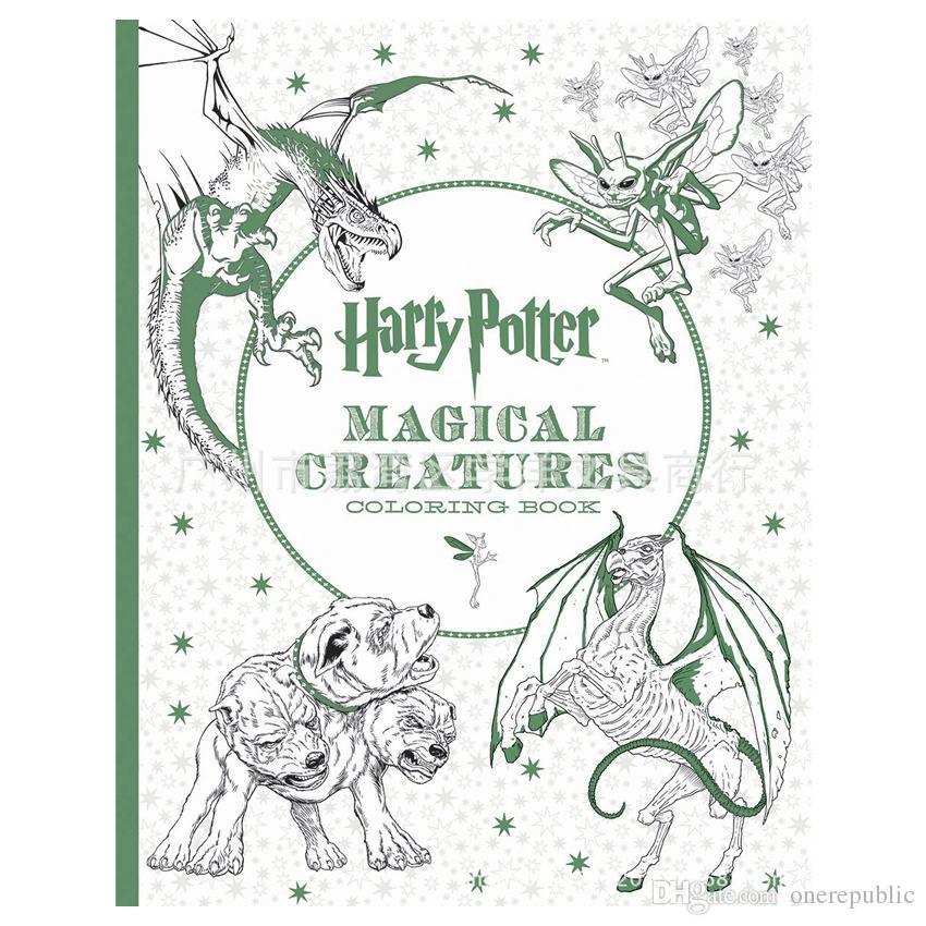 96 Pages Harry Potter Coloring Book For Adults Secret Garden Series Libros Para Colorear Adultos Colouring 1874 Printable