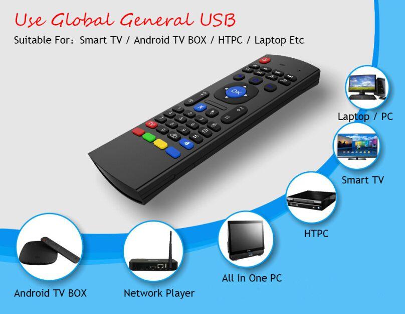 Hava Fly Fare MX3 2.4 GHz Kablosuz Klavye Uzaktan Kumanda Somatosensorial IR Öğrenme S905X S912 Android TV Box için Mic olmadan 6 Eksen