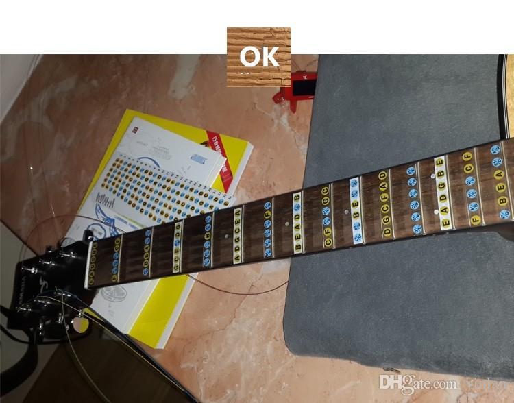 T1213121 ultra-sottile chitarra elettrica chitarra neck fingerplate scala musicale adesivi parti di chitarra accessori strumenti 5 pezzi