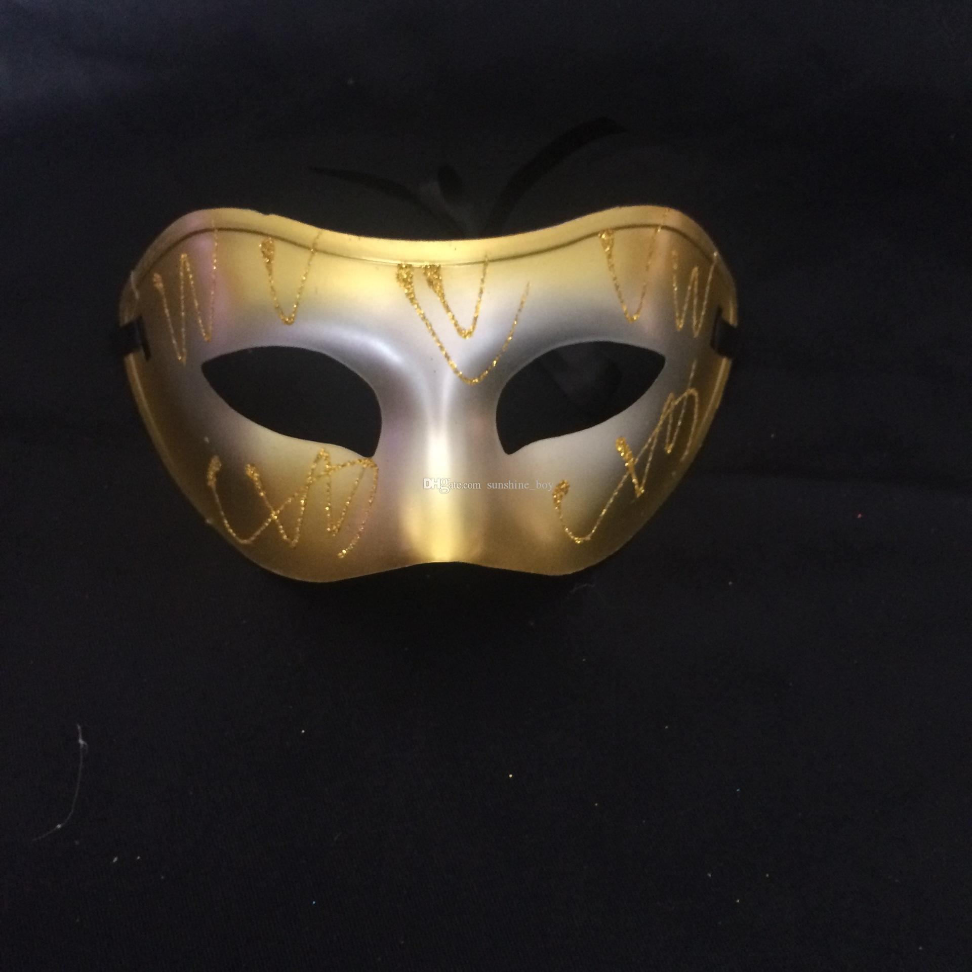 2016 Hot sales Factory direct sale Man/woman Spray painted flat mask Halloween dance festival Birthday mask Drop shipping