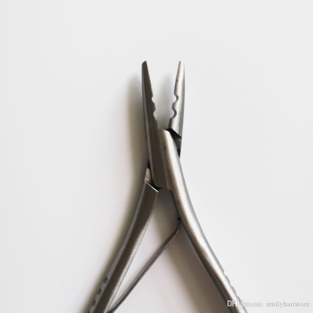 New Style 2 holes Stainless Steel Hair Pliers for micro ring/link/beads/Tube apply remove,Hair Extension Pliers,Hair Extension Tools