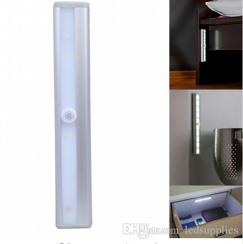10 luz da noite LED de bateria retângulo teto iluminação sensores de luz mudança movimento da parede infravermelho com ímã de montagem
