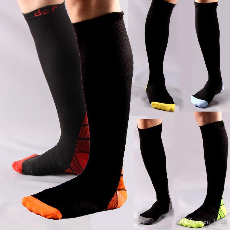 d966c5688 New men Basketball Socks adult sport Compression socks men s Knee High  stocking thai quality Thicken long hose socks