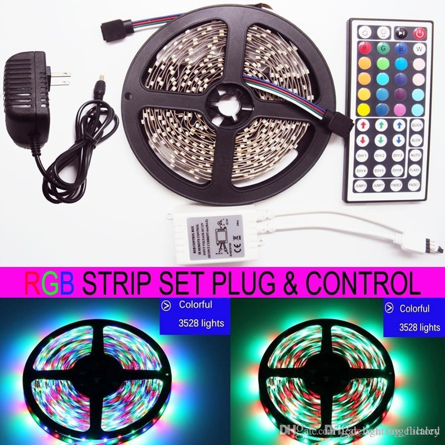 5m rgb led strip light smd3528 300 led 60ledm dc 12v 44key ir 5m rgb led strip light smd3528 300 led 60ledm dc 12v 44key ir remote control 100 240v ac adapter power plug 24w 2a battery powered led strips led strip aloadofball Gallery