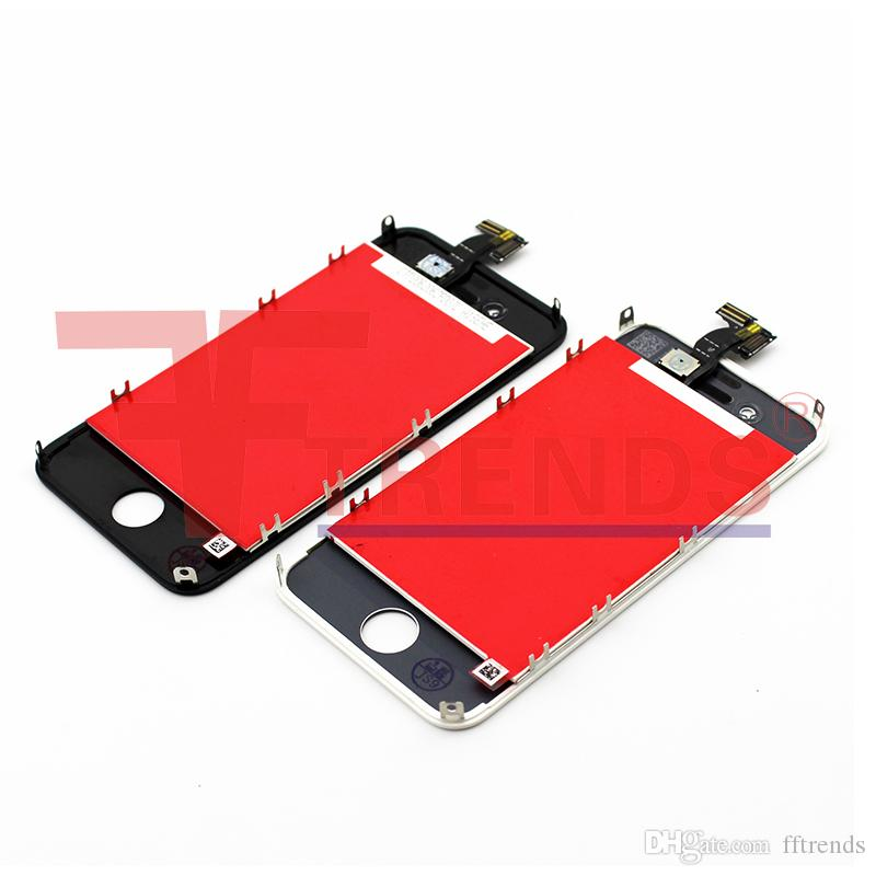 for iPhone 4 4S LCD Display & Touch Screen Digitizer Full Assembly Cheap Price Black White Free China Post Shipping