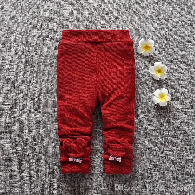 2016 autumn winter Leggings pants infant baby wainter tights pants children can open Leggings long pants children christmas pants