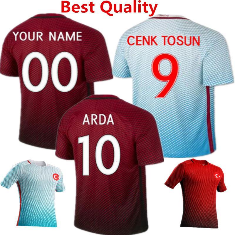 853f144496e ... 2016 Euro Cup Turkiye Soccer Jersey Turkey Maillot de foot Arda Turan  Gomlekler Umut Bulut Hakan .