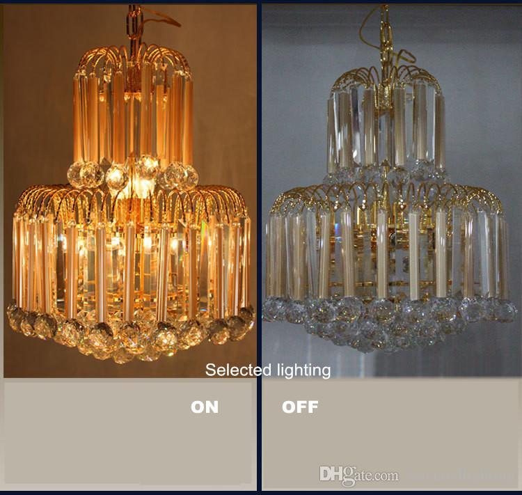 L'illuminazione moderna ha condotto il disegno di cristallo principale del candeliere Ha condotto l'illuminazione del candeliere d'oro Lampadario di cristallo della Boemia Lampade a sospensione il salone